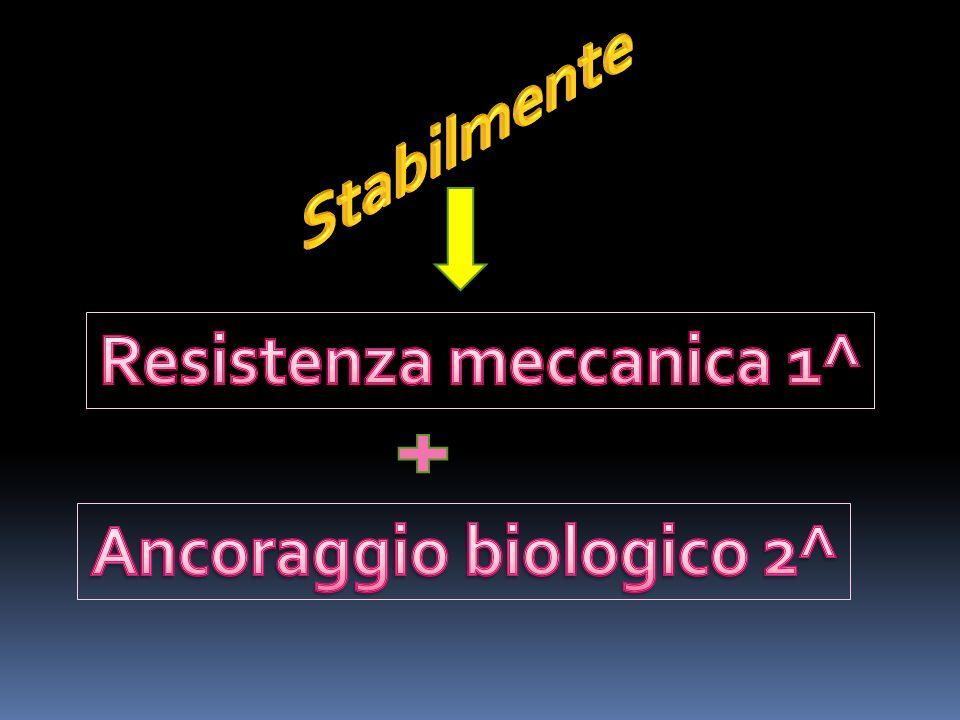 Resistenza meccanica 1^ Ancoraggio biologico 2^
