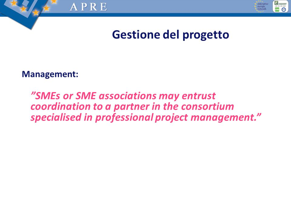 Gestione del progetto Management: