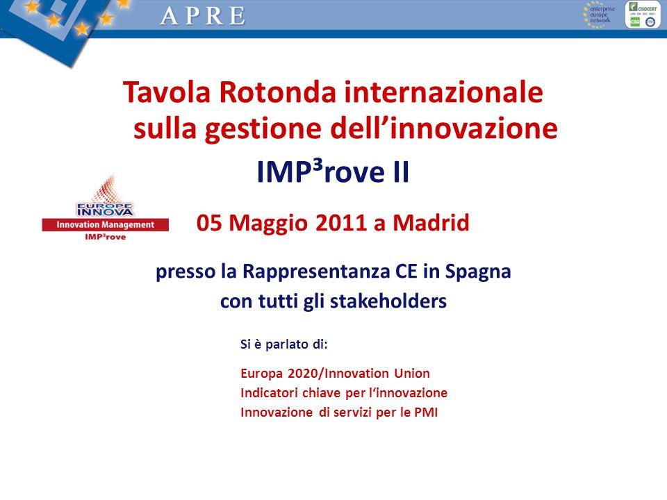 Tavola Rotonda internazionale sulla gestione dell'innovazione