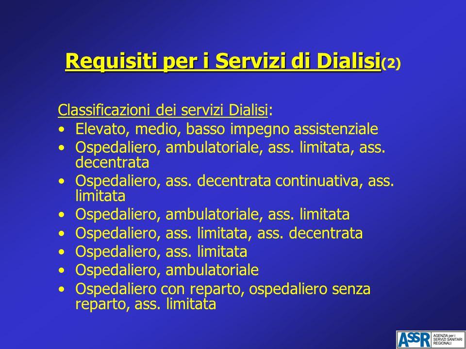 Requisiti per i Servizi di Dialisi(2)