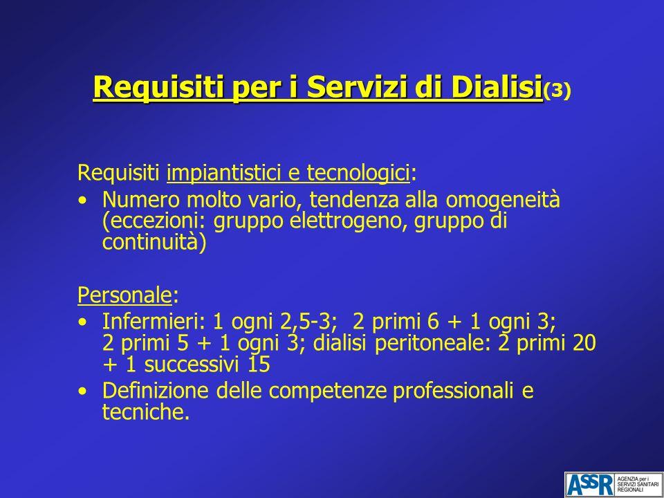Requisiti per i Servizi di Dialisi(3)