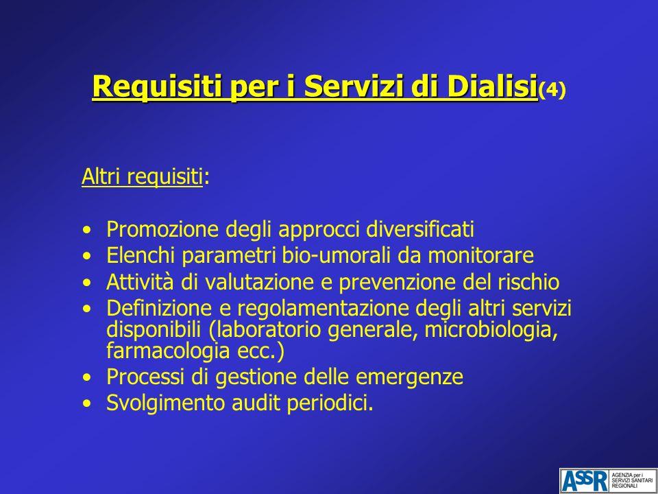 Requisiti per i Servizi di Dialisi(4)