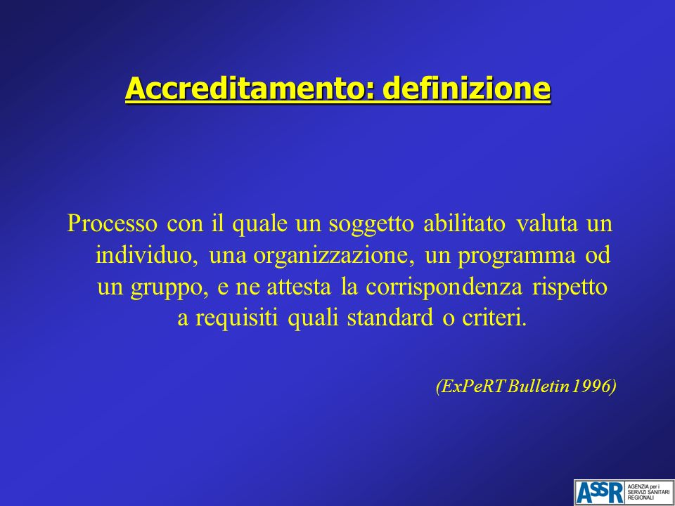Accreditamento: definizione