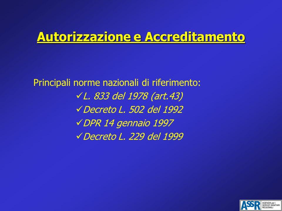 Autorizzazione e Accreditamento