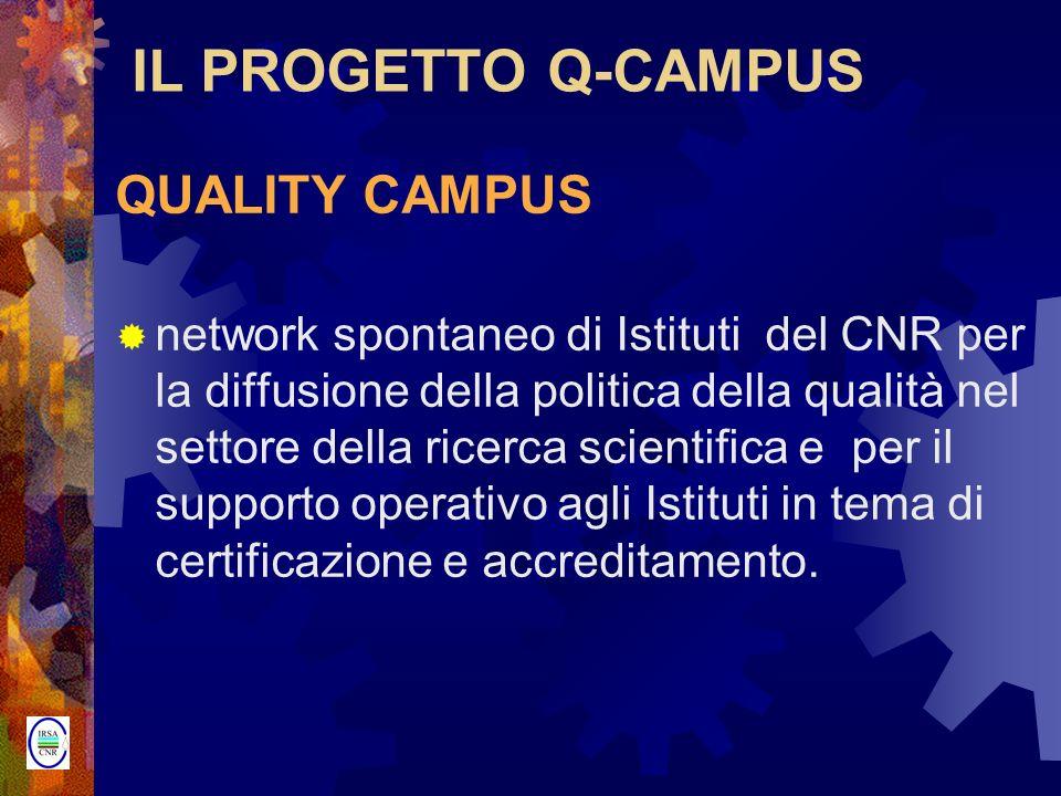 IL PROGETTO Q-CAMPUS QUALITY CAMPUS