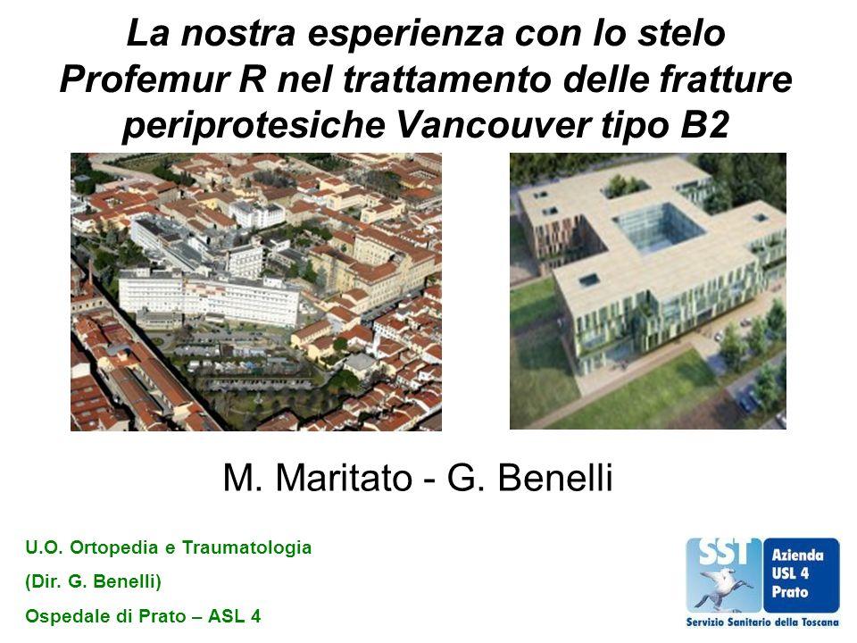 La nostra esperienza con lo stelo Profemur R nel trattamento delle fratture periprotesiche Vancouver tipo B2