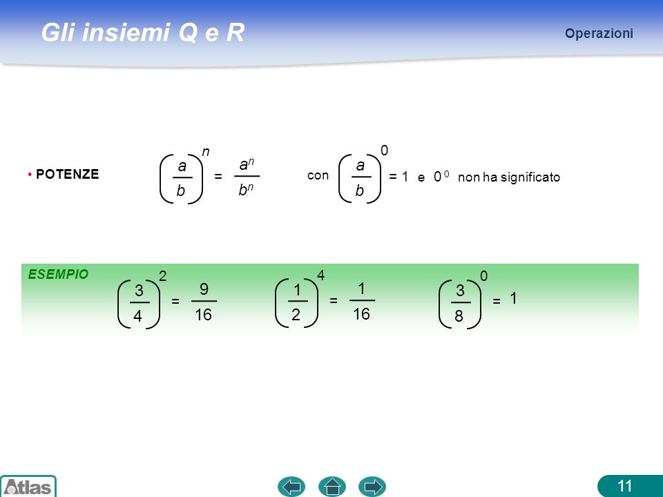a b an bn 3 4 9 16 1 2 16 3 8 1 = n = 1 e 0 0 non ha significato = 2 =
