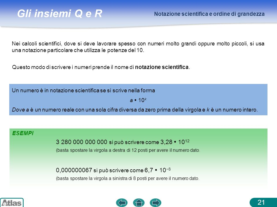 Notazione scientifica e ordine di grandezza