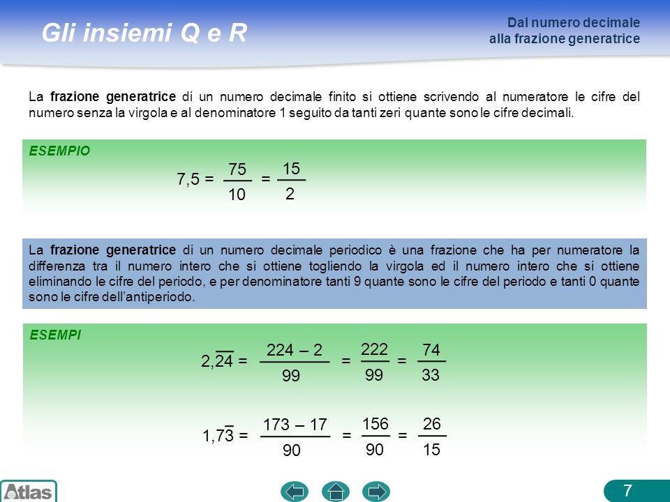 Dal numero decimale alla frazione generatrice.