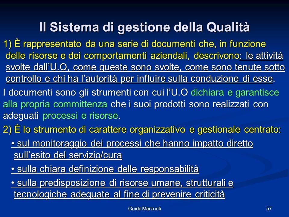 Il Sistema di gestione della Qualità