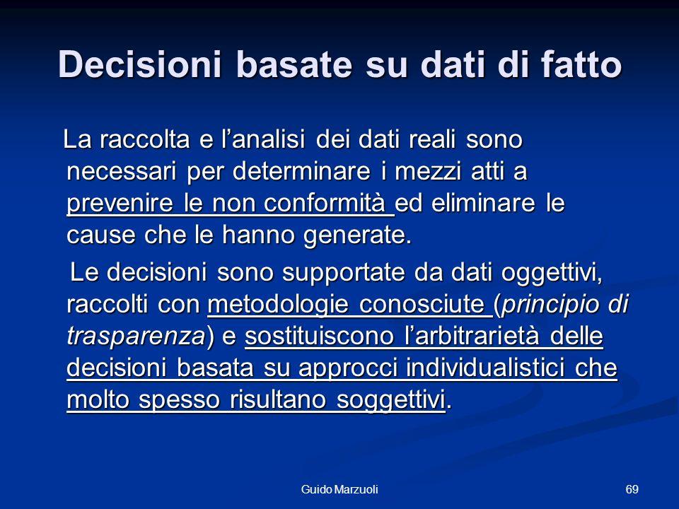 Decisioni basate su dati di fatto