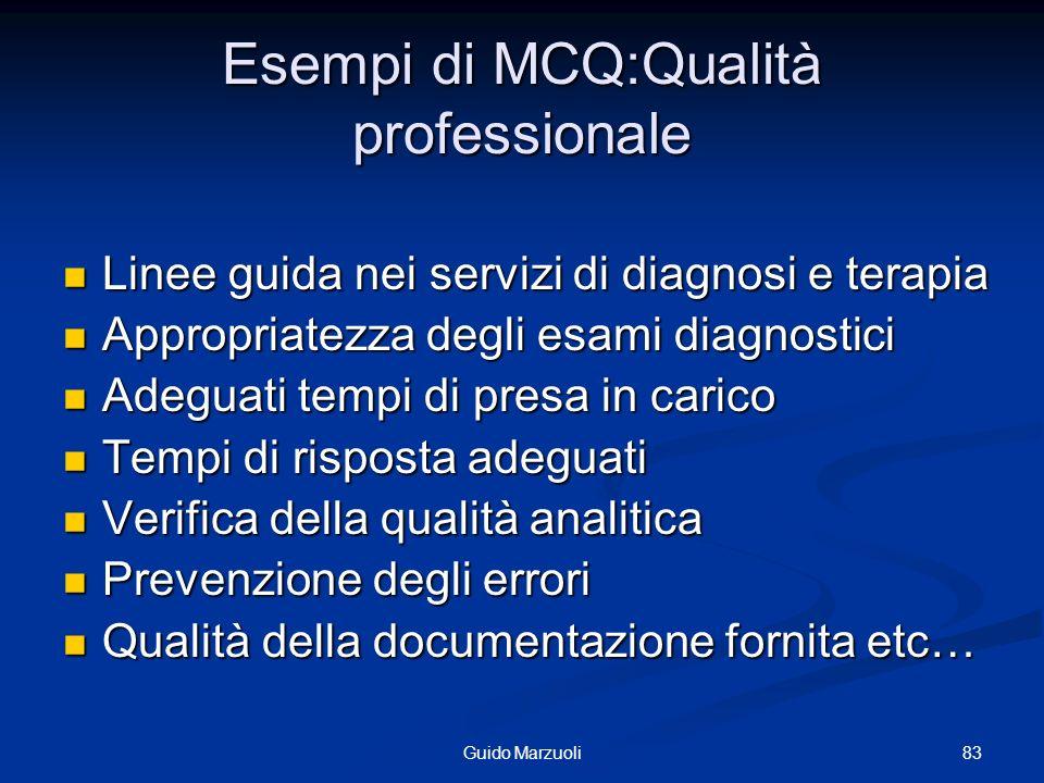 Esempi di MCQ:Qualità professionale