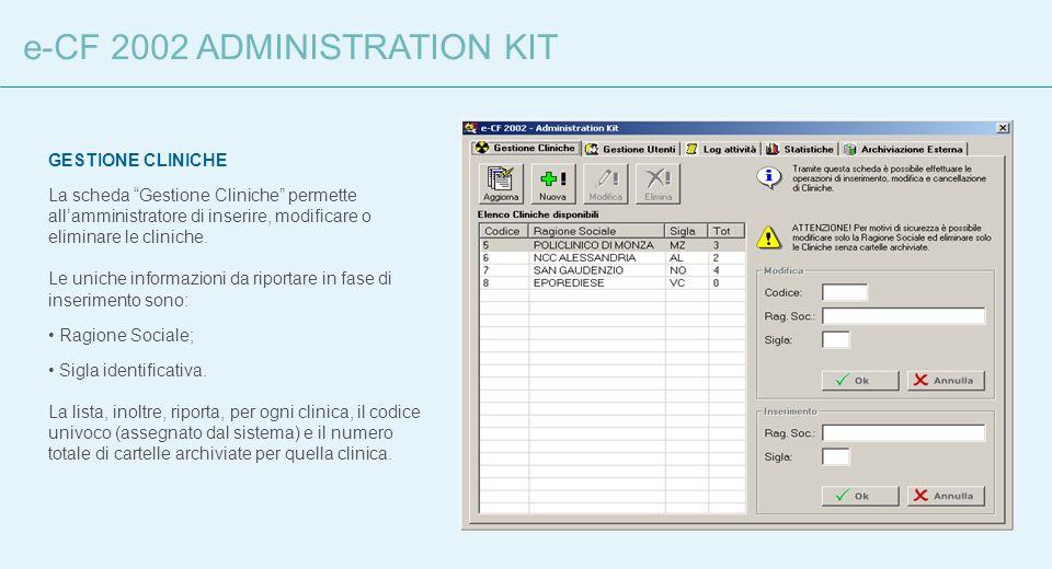 e-CF 2002 ADMINISTRATION KIT
