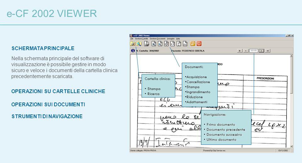 e-CF 2002 VIEWER SCHERMATA PRINCIPALE