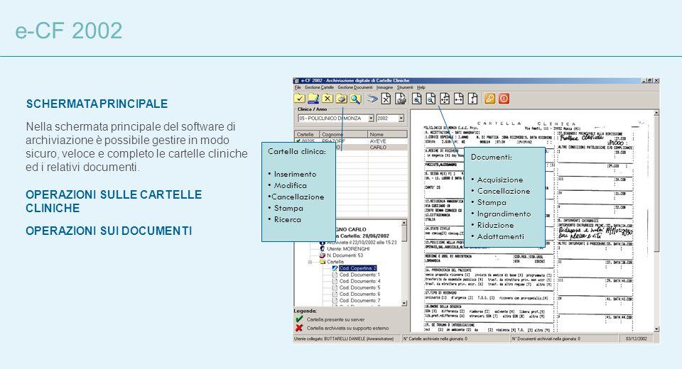 e-CF 2002 SCHERMATA PRINCIPALE