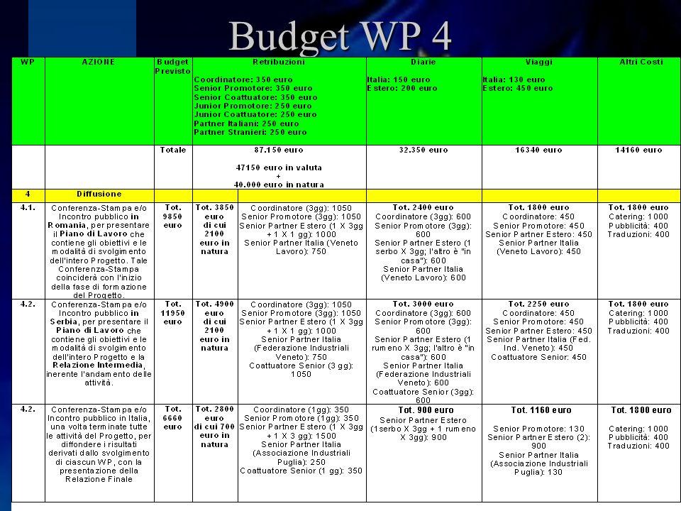 Budget WP 4