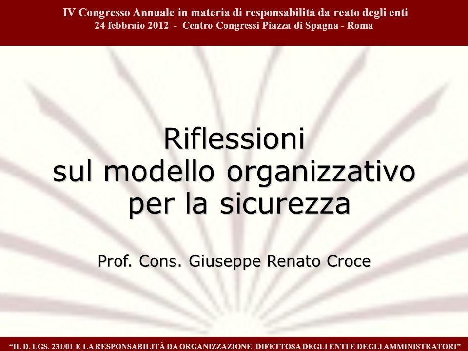 1 IV Congresso Annuale in materia di responsabilità da reato degli enti. 24 febbraio 2012 - Centro Congressi Piazza di Spagna - Roma.