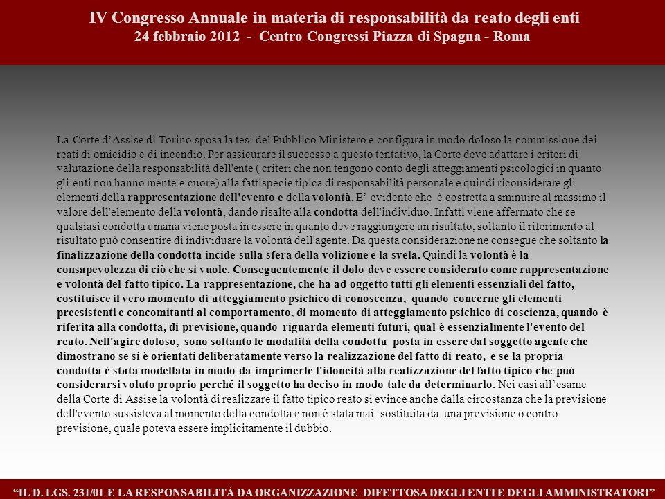 1818 IV Congresso Annuale in materia di responsabilità da reato degli enti. 24 febbraio 2012 - Centro Congressi Piazza di Spagna - Roma.
