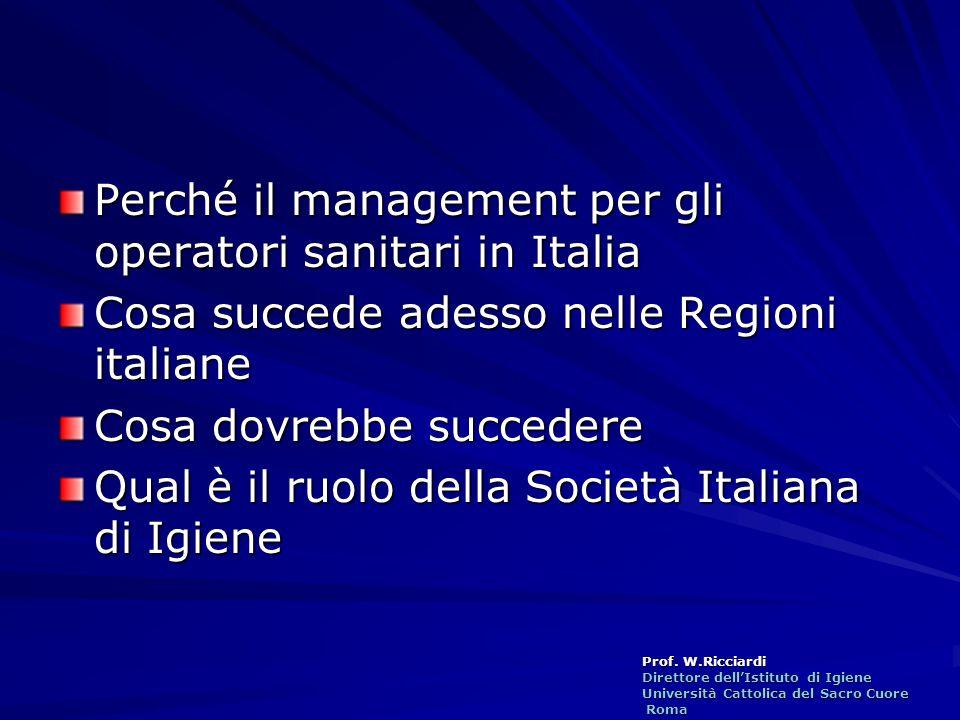 Perché il management per gli operatori sanitari in Italia