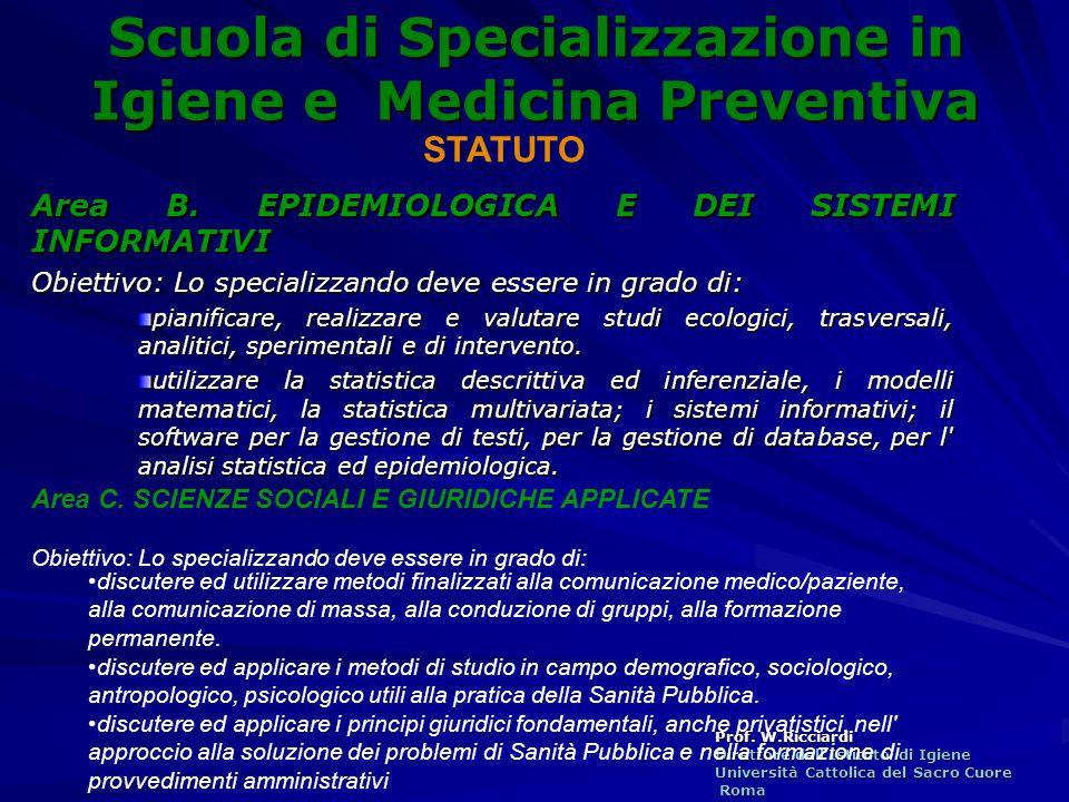 Scuola di Specializzazione in Igiene e Medicina Preventiva