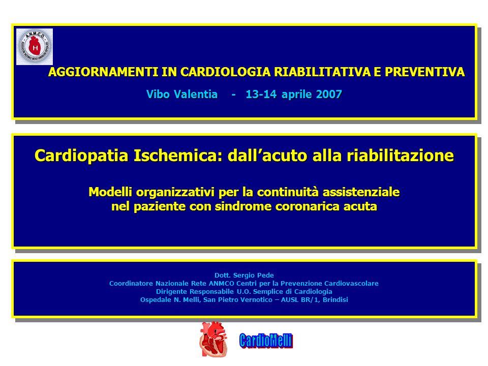 Cardiopatia Ischemica: dall'acuto alla riabilitazione