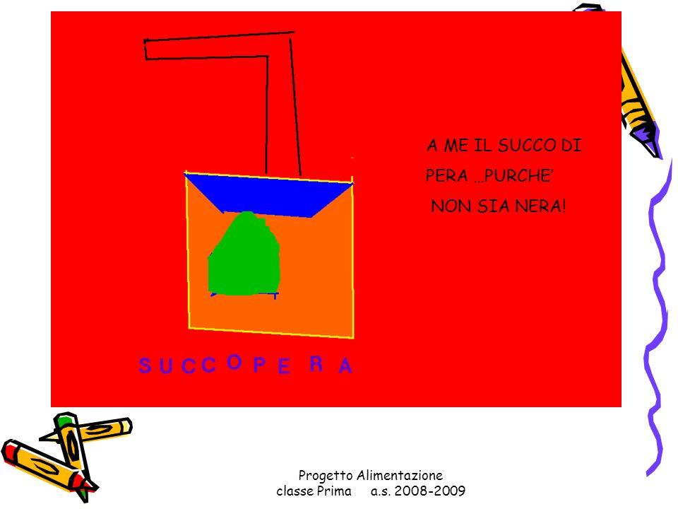 Progetto Alimentazione classe Prima a.s. 2008-2009