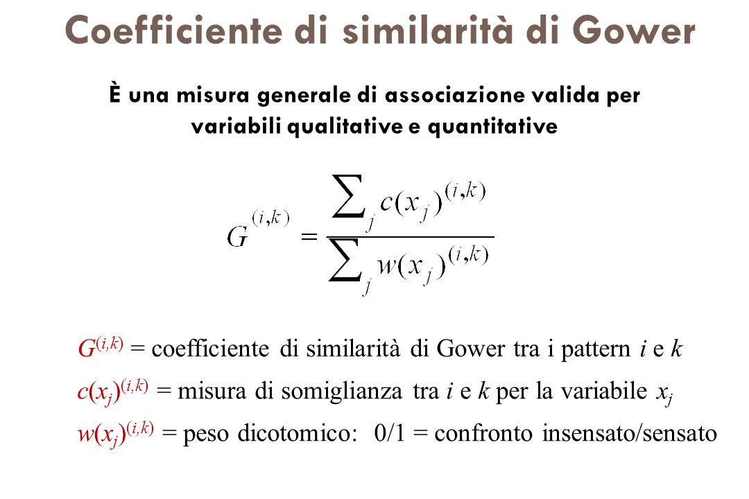 Coefficiente di similarità di Gower