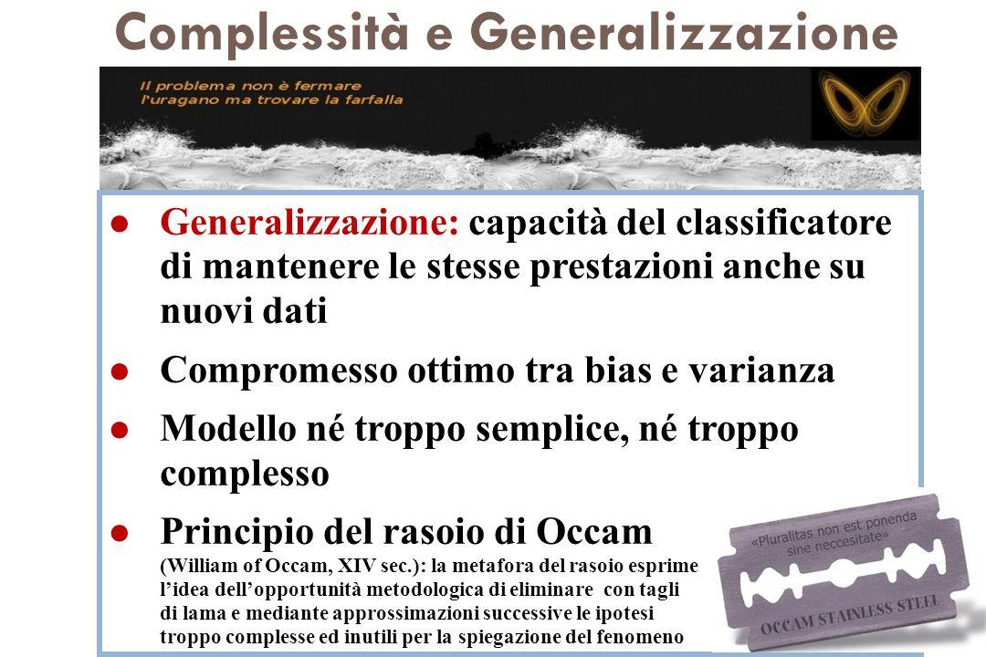 Complessità e Generalizzazione