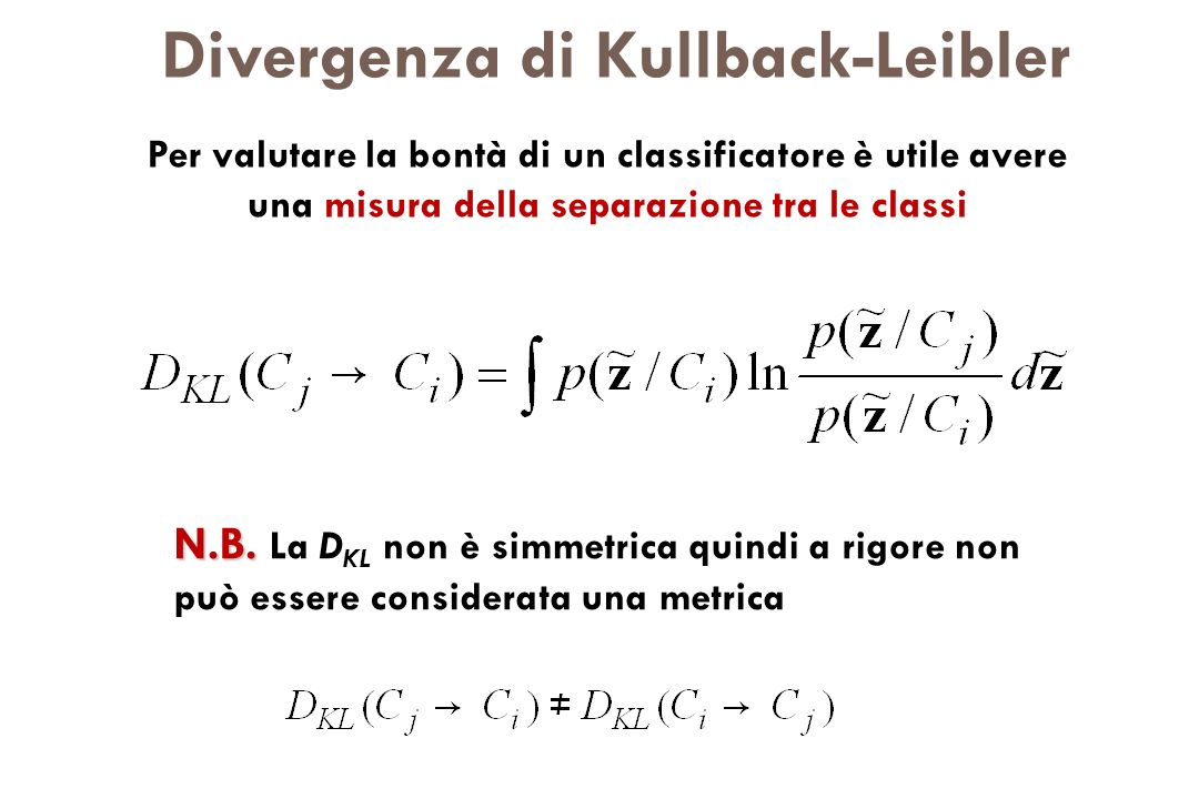 Divergenza di Kullback-Leibler