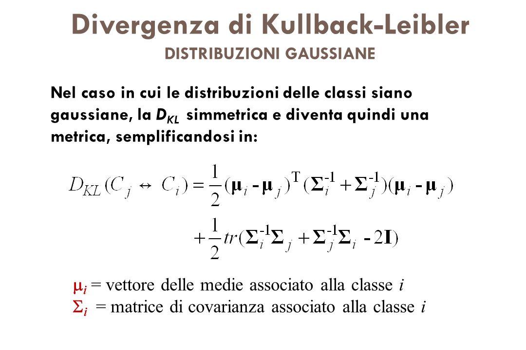 Divergenza di Kullback-Leibler DISTRIBUZIONI GAUSSIANE