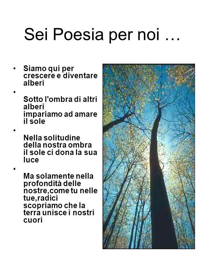 Sei Poesia per noi … Siamo qui per crescere e diventare alberi