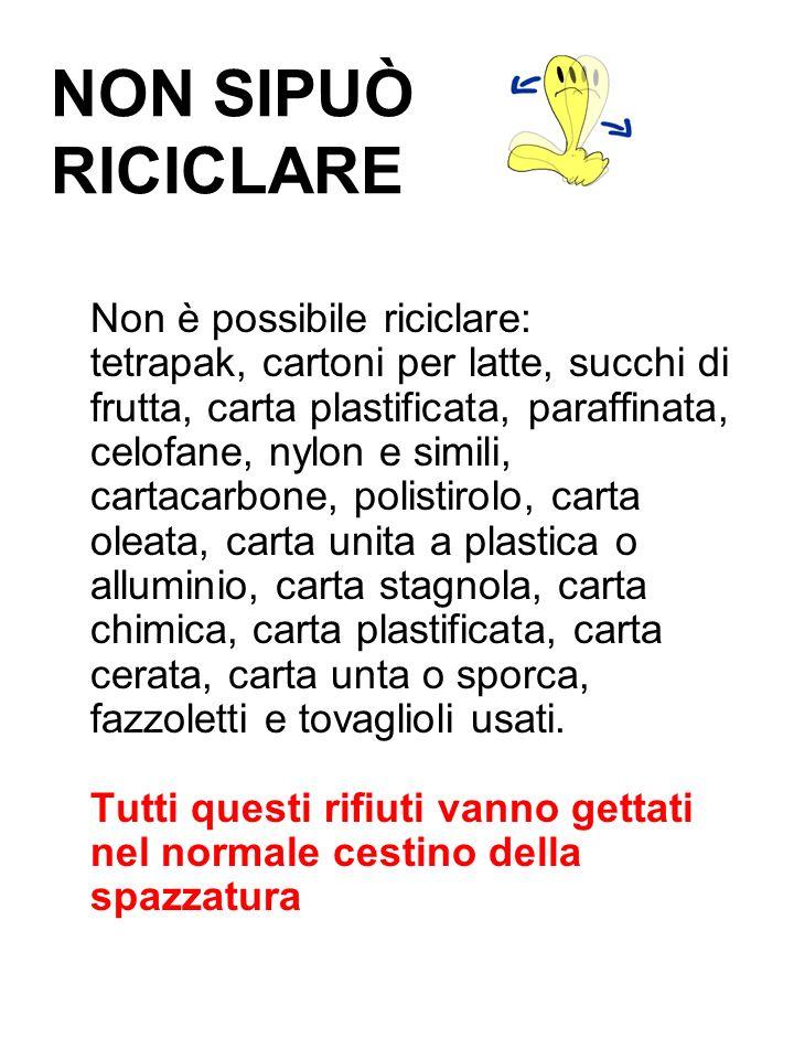 NON SIPUÒ RICICLARE