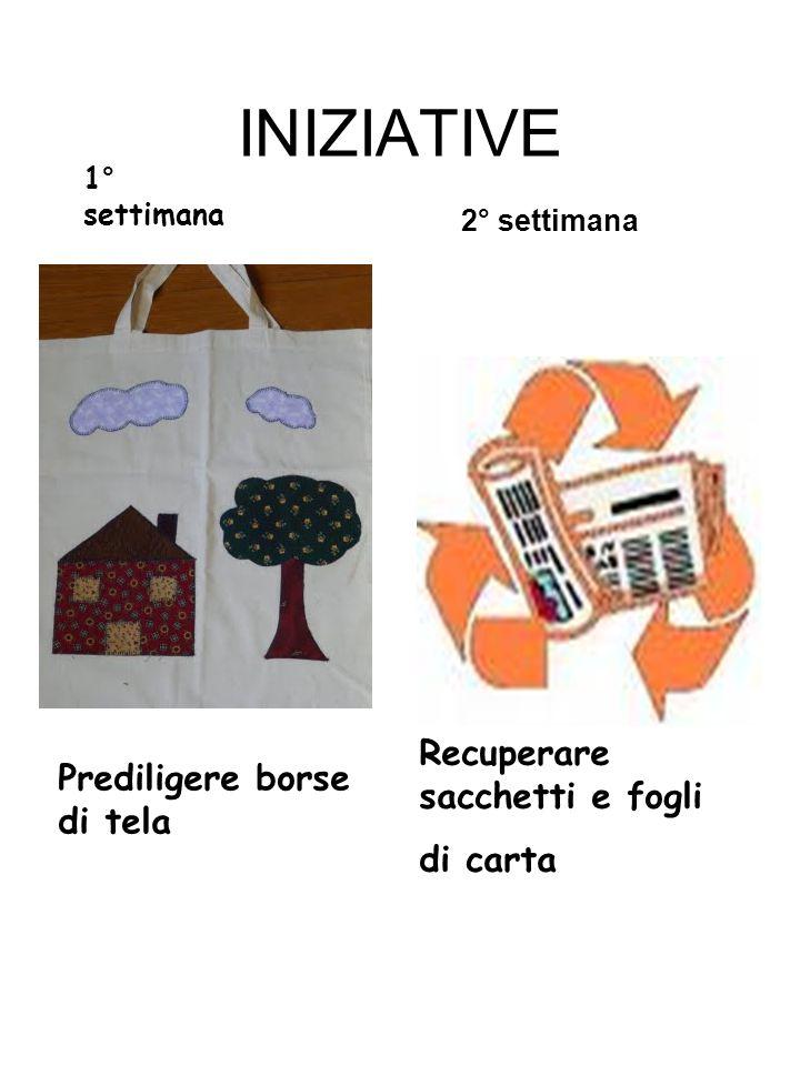 INIZIATIVE Recuperare sacchetti e fogli Prediligere borse di tela