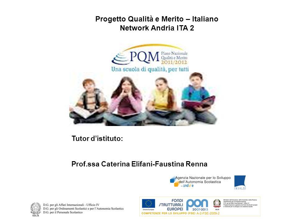 Progetto Qualità e Merito – Italiano