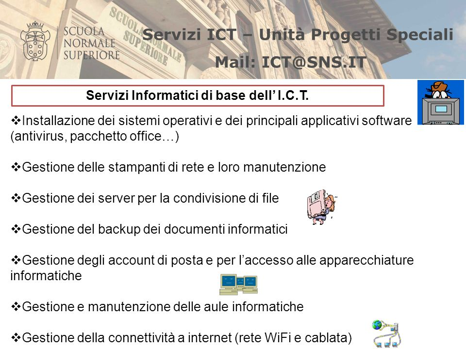 Servizi Informatici di base dell' I.C.T.