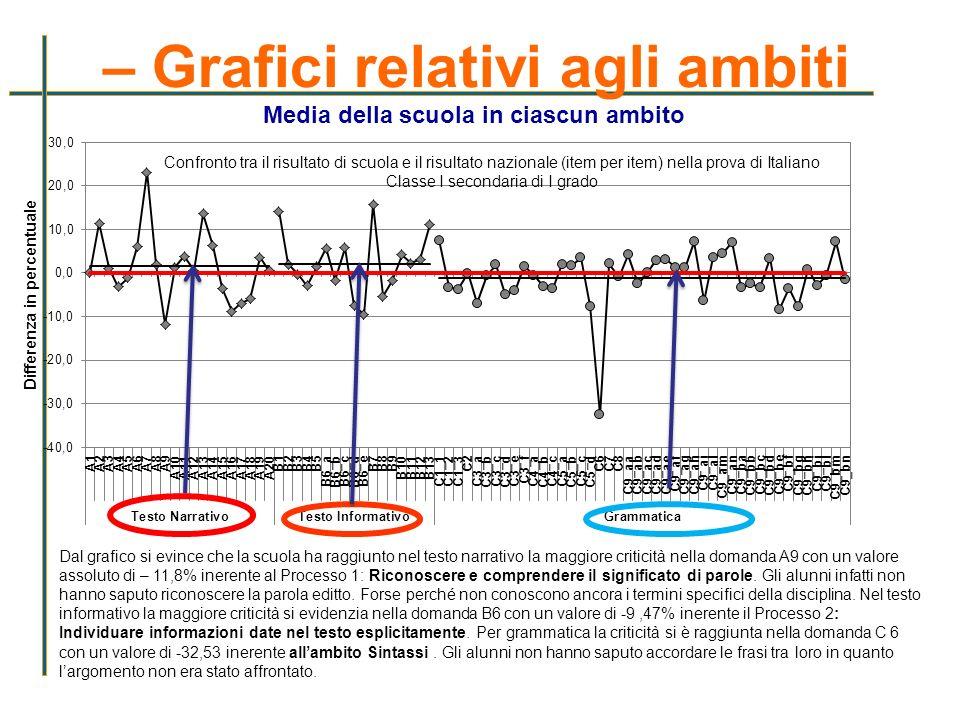 – Grafici relativi agli ambiti