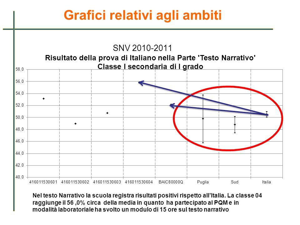Grafici relativi agli ambiti SNV 2010-2011