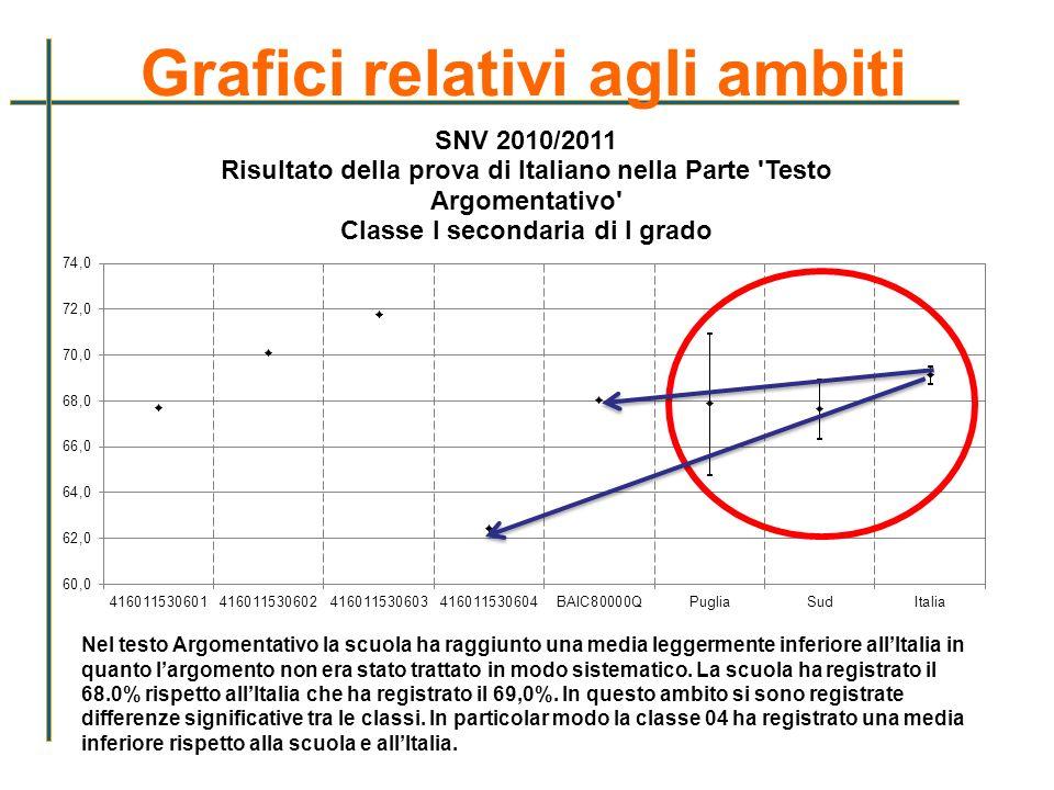 Grafici relativi agli ambiti