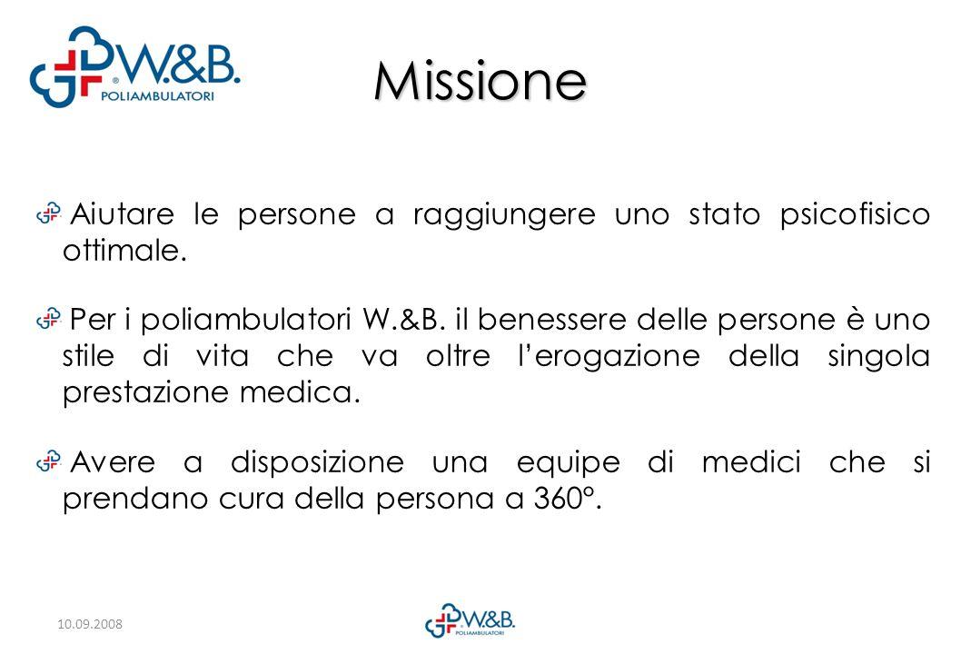 Missione Aiutare le persone a raggiungere uno stato psicofisico ottimale.
