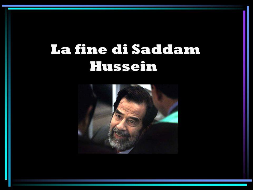 La fine di Saddam Hussein
