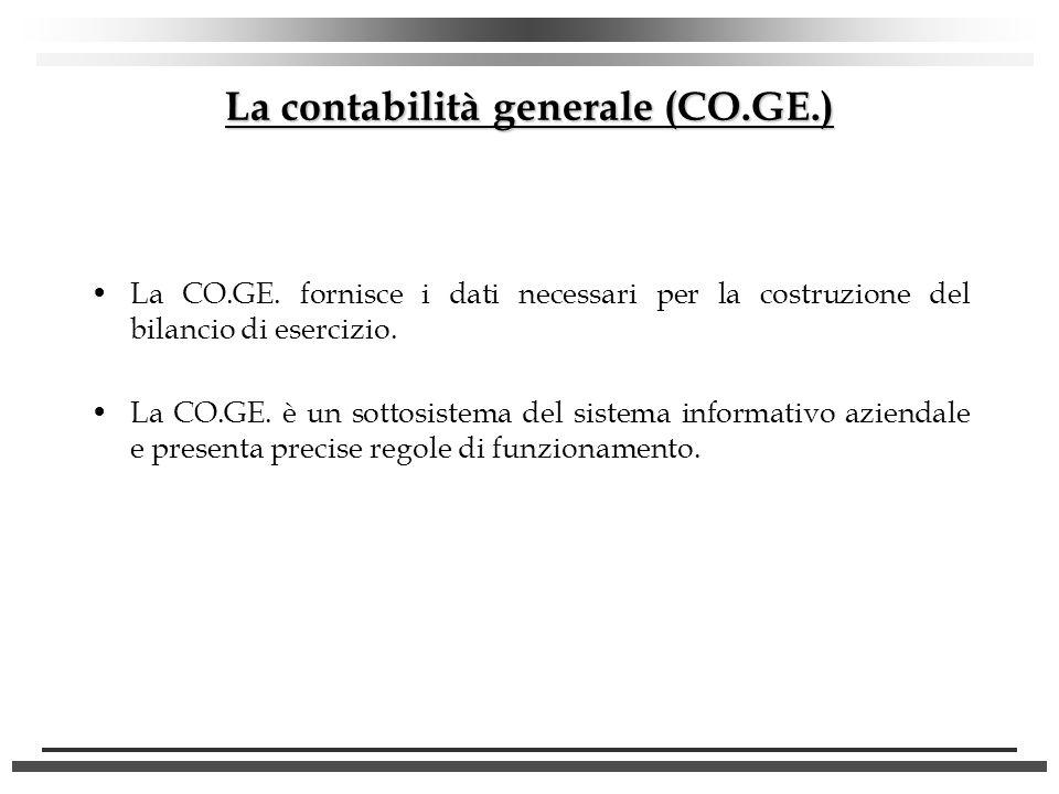 La contabilità generale (CO.GE.)