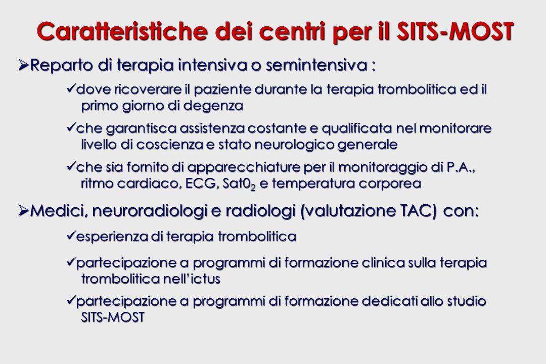 Caratteristiche dei centri per il SITS-MOST