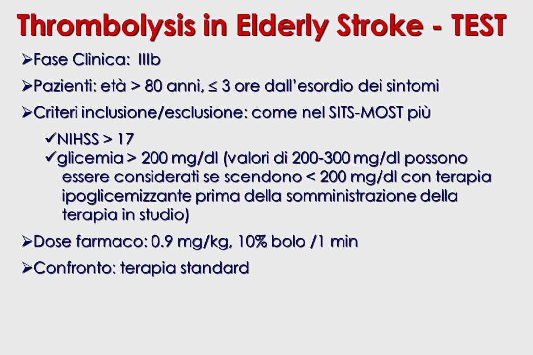 Thrombolysis in Elderly Stroke - TEST