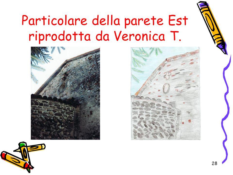 Particolare della parete Est riprodotta da Veronica T.