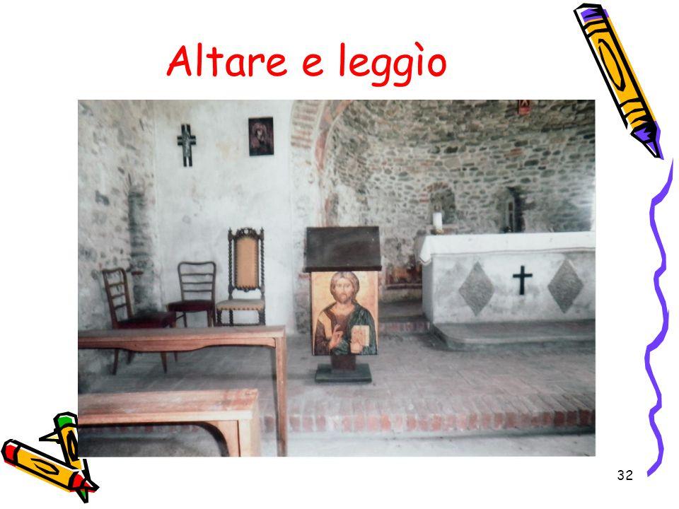 Altare e leggìo