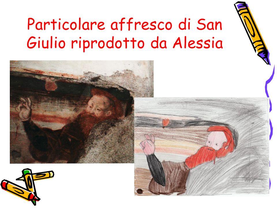 Particolare affresco di San Giulio riprodotto da Alessia