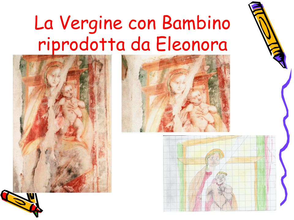 La Vergine con Bambino riprodotta da Eleonora