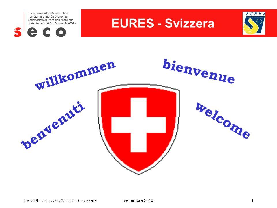 bienvenue welcome benvenuti willkommen EVD/DFE/SECO-DA/EURES-Svizzera