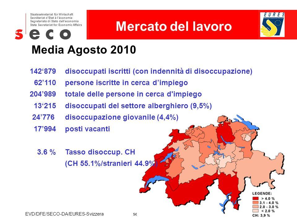 Mercato del lavoro Media Agosto 2010
