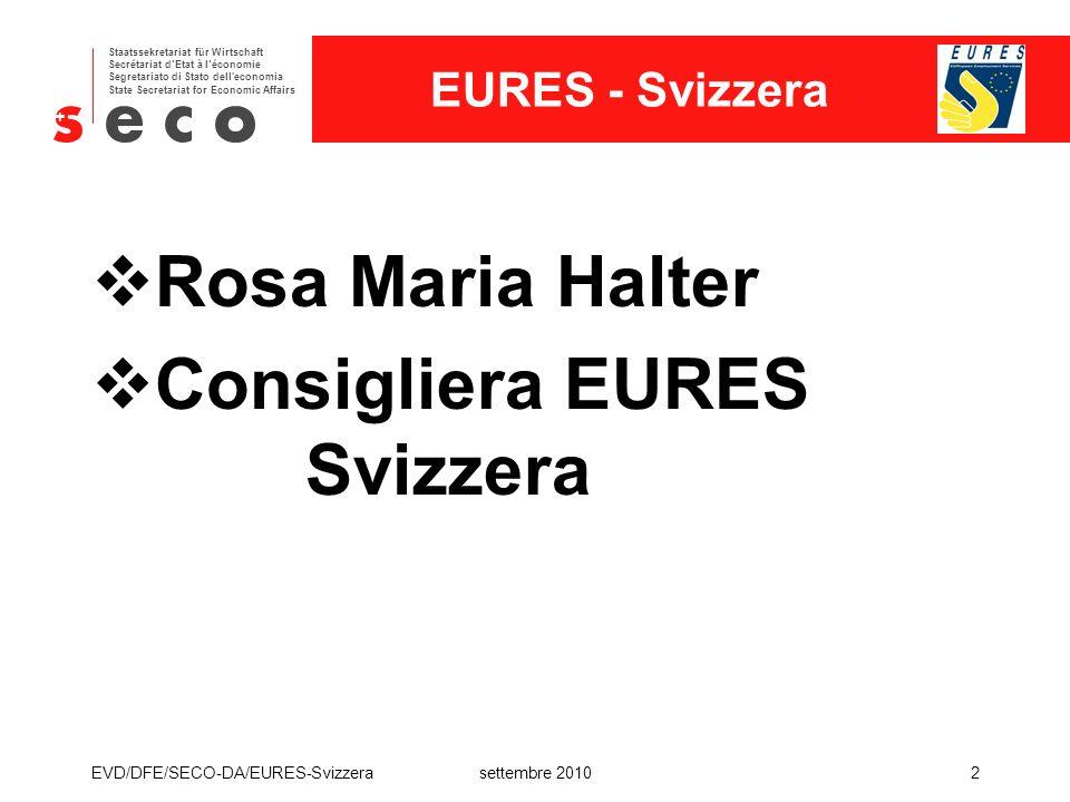 Consigliera EURES Svizzera